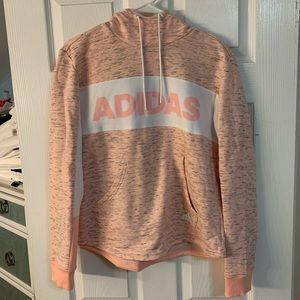 Pink adidas women's hoodie sweatshirt
